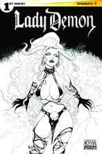 Image: Lady Demon #1 (Andolfo b&w variant incentive cover - 01081) (20-copy) - Dynamite