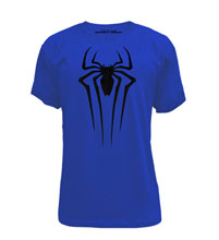 Image: Spider-Man: Just Spider Royal Poly T-Shirt  (XL) -