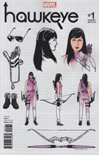 Image: Hawkeye #1 (Romero Design variant cover - 00131) - Marvel Comics