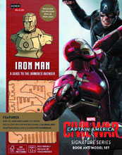 Image: Incredibuilds: Captain America Civil War: Iron Man Deluxe Model  (w/Book) - Insight Editions