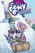 Image: My Little Pony: Holiday Special 2017  (cover A - Brenda Hickey) - IDW Publishing