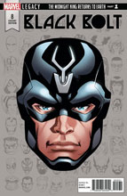 Image: Black Bolt #8 (Legacy) (variant cover - McKone Legacy Headshot) - Marvel Comics