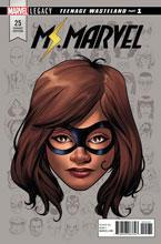 Image: Ms. Marvel #25 (Legacy) (variant cover - McKone Legacy Headshot) - Marvel Comics