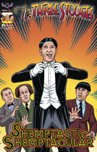 Image: Three Stooges: Shemptastic Shemptacular Special  (variant cover - Front and Center Fraim Bros) - American Mythology Productions