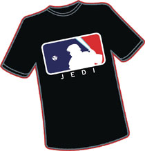 Image: Last Major League Jedi T-Shirt  (L) - Antarctic Press