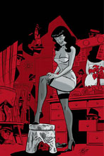 Image: Bettie Page #6 (cover F incentive - Chantler Virgin) (30-copy) - Dynamite