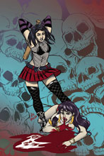 Image: Hack/Slash vs. Vampirella #3 (cover C incentive - Jen Vaughn) (10-copy) - Dynamite