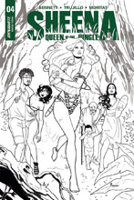 Image: Sheena Queen of the Jungle #4 (cover G incentive - Sanapo B&W) (25-copy) - Dynamite