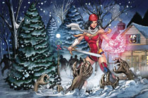Image: Grimm Fairy Tales 2017 Holiday Special  (cover B - Atkins) - Zenescope Entertainment Inc