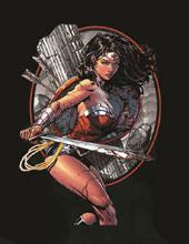 Image: DC Wonder Woman Womens T-Shirt Bundle: Warrior  [Black] - Graphitti Designs
