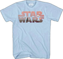 Image: Star Wars T-Shirt: Heroe's Quest Logo [Light Blue]  (M) - Mad Engine