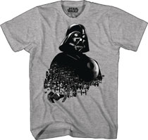 Image: Star Wars T-Shirt: Vader Swarm [Gray]  (S) - Mad Engine