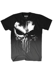 Image: Marvel T-Shirt: Punisher Frank Castle [Black]  (XL) - Mad Engine