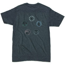 Image: Magic the Gathering T-Shirt: Five Pie [Charcoal Heather]  (XXL) - Mad Engine