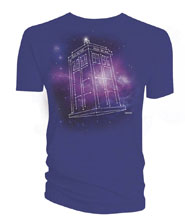 Image: Doctor Who T-Shirt: Tardis Constellation [Purple]  (XXL) - Titan Books Uk