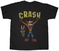 Image: Crash Bandicoot T-Shirt: Woah [Black]  (L) - Changes