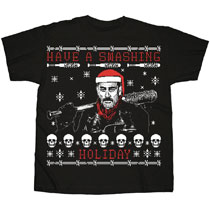 Image: Walking Dead T-Shirt: Smashing Ugly X-Mas [Black]  (XL) - Changes