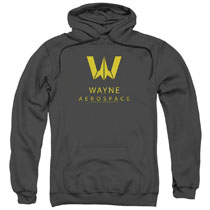 Image: Justice League Hoodie: Wayne Aerospace [Gray]  (XL) - Trevco Sportswear
