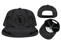 Image: Flash Snap Back Hat: Zoom Chrome Weld Embroidery Nylon  - Bioworld Merchandising