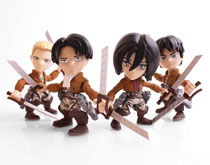 Image: TLS X Attack on Titan Mini-Figure 12-Piece Blind Mystery Box Display Wv1  - The Loyal Subjects