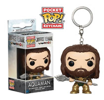 Image: Pocket Pop! Justice League Movie Figure Keychain: Aquaman  - Funko