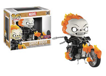 Image: Pop! Rides Marvel Vinyl Bobble-Head 033: Ghost Rider  - Funko