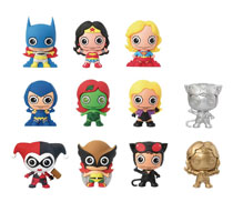 Image: DC Super Hero Girls Laser Cut Figure Keyring 24-Piece Blind Mystery Box Display  - Monogram Products