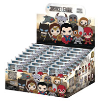 Image: Justice League Movie Laser Cut Figure Keyring 24-Piece Blind Mystery Box Display  - Monogram Products