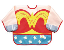 Image: DC Comics Jr. Sleeved Superbib: Wonder Woman  - Bumkins Finer Baby Products