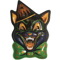 Image: Ghoulsville Vac-Tastic Plastic Mask: Magic Glitter Cat  - Retro-A-Go-Go! LLC