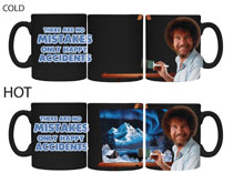 Image: Bob Ross Mug: Mistakes  (Heat Change) - Surreal Entertainment