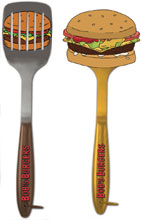 Image: Bob's Burgers Spatulas: Burger & Logo  - Surreal Entertainment
