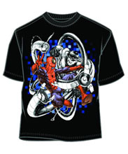 Image: Spider-Man: Knotted Black PX T-Shirt  (XXL) - Mad Engine