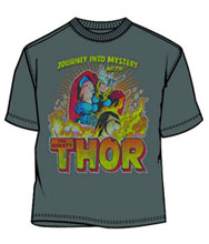 Image: Thor: Blaze of Glory Charcoal PX T-Shirt  (XL) - Mad Engine