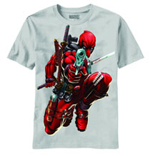 Image: Deadpool: Brace Yourself PX T-Shirt [silver]  (M) - Previews Exclusive Wear