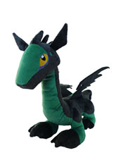 Image: Dark Dragon Child 12-inch Plush  (Gray version) -