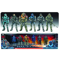 Image: Halo Reach Noble Team 6-Piece Action Figure Deluxe Set Case  -