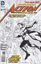 Image: Action Comics #14 (Black & White variant cover) (v100)