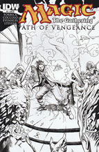 Image: Magic: The Gathering - Path of Vengeance #2 (10-copy B&W incentive cover) (v10)