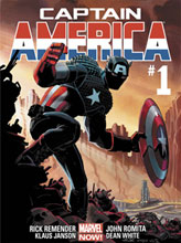 Image: Captain America #1 Marvel Now! Poster  - Marvel Comics