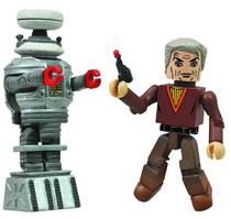 Image: Lost In Space Minimates: Dr. Zachary Smith and Robot B-9  -