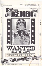 Image: Judge Dredd #25 (variant incentive cover - Mark Torres Artist's Edition) (10-copy) - IDW Publishing