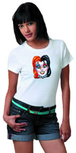 Image: Harley Quinn T-Shirt: Mask by Conner Women's  (S) -