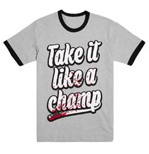 Image: Walking Dead T-Shirt: Take It Like a Champ [Unisex]  (L) - Skybound Entertainment