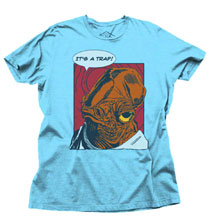 Image: Star Wars T-Shirt: It's a Trap [Sky Blue Heather]  (S) - Junk Food Clothing