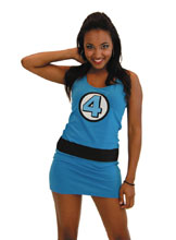 Image: Marvel Graphic Tank Dress: Fantastic Four  (L) - Costume Agent
