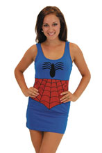 Image: Marvel Graphic Tank Dress: Spider-Man  (L) - Costume Agent