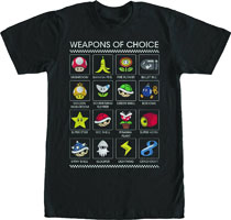 Image: Super Mario T-Shirt: Weapons of Choice [Black]  (M) - Fifth Sun