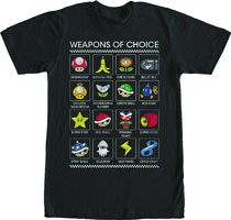 Image: Super Mario T-Shirt: Weapons of Choice [Black]  (XL) - Fifth Sun