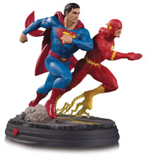 Image: DC Gallery Statue: Superman vs. Flash Racing  - DC Comics